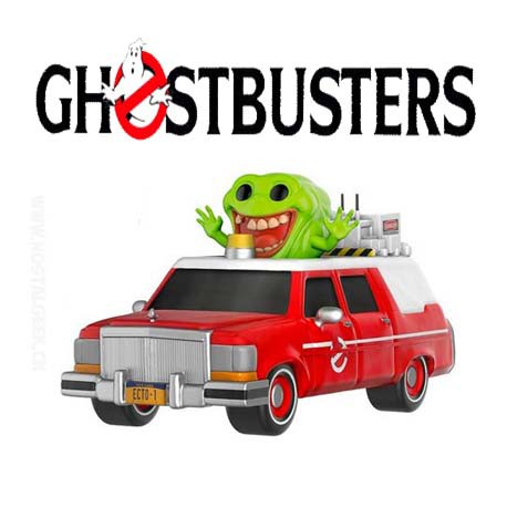 Funko Pop Movies Ghostbusters Ecto-1 with Slimer SDCC 2016 Limited Edition