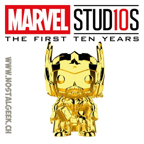 Funko Pop Marvel Studio 10th Anniversary Doctor Strange (Gold Chrome)Exclusive Vinyl Figure
