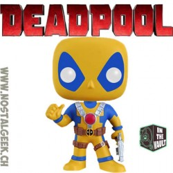 Funko Pop Marvel Deadpool Rainbow Squad Yellow and Blue Vaulted Edition Limitée Boîte abîmée