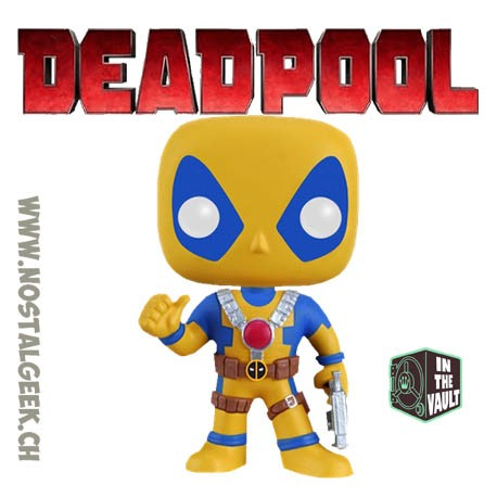 Funko Pop Marvel Deadpool Rainbow Squad Yellow and Blue Exclusive Vaulted Vinyl Figure Damaged Box