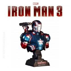 Iron Man 3 - Buste Iron Patriot 1/6 Hot Toy