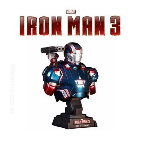 Iron Man 3 - Iron Patriot Bust 1/6 Hot Toy