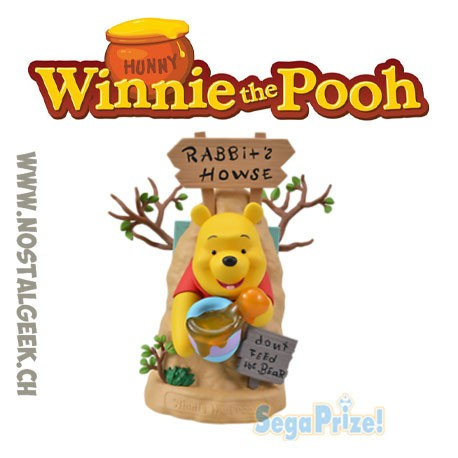 Disney Winnie The Pooh Limited Premium Figure Rabbit House 19 cm Sega