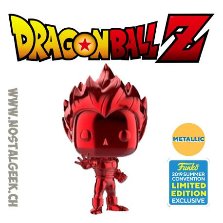 Funko Pop Animation NYCC 2018 Dragon Ball Super Saiyan Vegeta (Blue Chrome) Exclusive Vinyl Figure