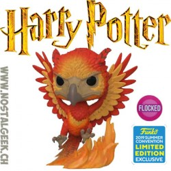 Funko Movies SDCC 2019 Harry Potter Fawkes Flocked Edition Limitée