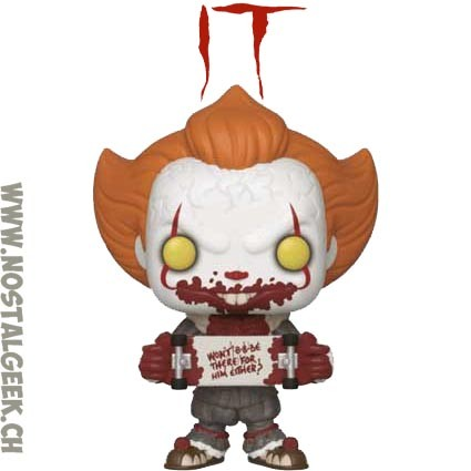 "EXCLUSIVE ORIGINAL IT BLACK /& WHITE PENNYWISE 3.75/"" POP VINYL FIGURE FUNKO"