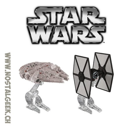 Hot Wheels Star Wars: The Force Awakens First Order TIE Fighter vs. Millennium Falcon Starship 2-Pack
