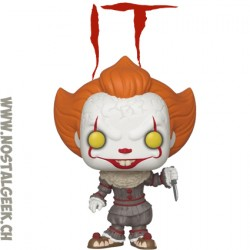 Funko Pop! Movie IT Pennywise (Gripsou) with Skateboard Exclusive Vinyl Figure