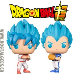 Funko Pop Dragon Ball Super Goku et Vegeta Baseball 2-Pack Edition Limitée Vinyl Figure