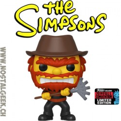 Funko Pop NYCC 2019 The Simpsons Evil Groundskeeper Willie as Freddy Krueger Exclusive Vinyl Figure