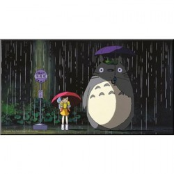 Totoro Bus Stop Wood Panel