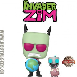 Funko Pop Television Invader Zim - Zim & Gir Exclusive Vinyl Figure