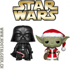 Pack Funko Pop Star Wars Holiday C-3PO as Santa et R2-D2 (Reindeer)