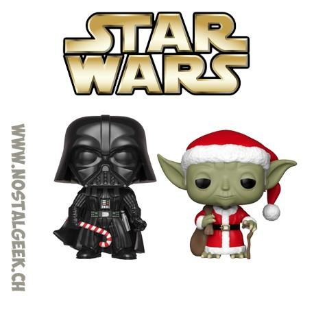 Pack Funko Pop Star Wars Holiday C-3PO as Santa et R2-D2 (Reindeer) Vinyl Figures