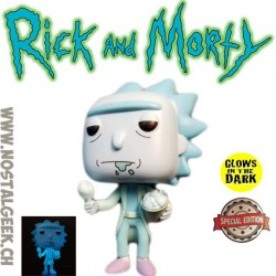 Funko Pop Rick and Morty Hologram Rick Clone (Bucket of Chicken) GITD Exclusive Vinyl Figure Lightly damaged box
