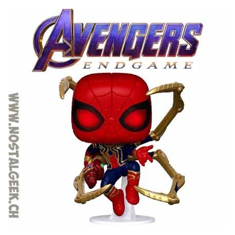 Funko Pop Marvel Avengers Endgame Iron Spider (with Nano Gauntlet) Vinyl Figure