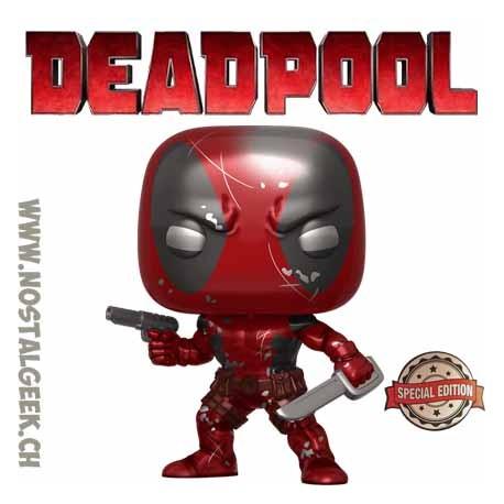 Funko Pop Marvel Deadpool (First Appearance) (Metallic) Exclusive Vinyl Figure