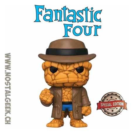 Funko Pop Marvel Fantastic Four The Thing (Hat) Exclusive Vinyl Figure