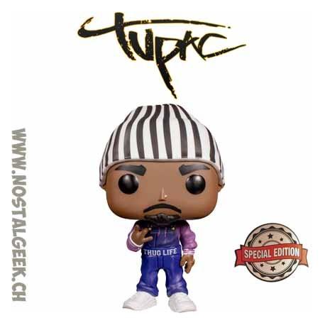 Funko Pop Rocks Tupac Shakur (Thug Life Overalls) Exclusive Vinyl Figure