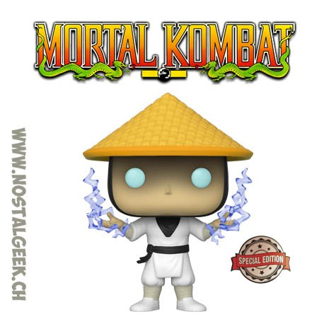 Funko Pop Games Mortal Kombat Raiden (Classic) (Lightning) Edition Limitée
