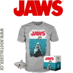 Funko Pop et T-shirt Les Dents de la mer Night Swim Edition Limitée - Taille L
