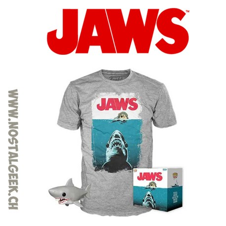 Funko Pop Great White Shark (Bloody) and Jaws Tee Oversized Exclusive Vinyl Figure