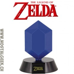 The Legend Of Zelda - Lampe 3D Rupee Bleu 10cm