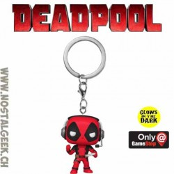 Funko Pop! Pocket Marvel Deadpool (Gamer) Phosphorescent Edition Limitée