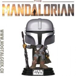 Funko Pop Star Wars The Mandalorian (Gun to the Side) Vinyl Figure