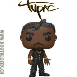 Funko Pop Rocks Tupac Shakur (Black Vest) Vinyl Figure
