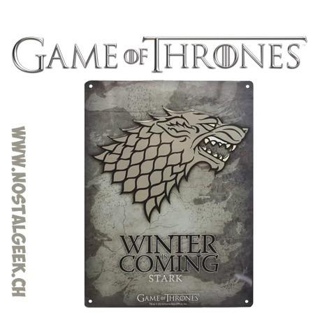 Game Of Thrones - Stark Winter is coming Metal plate (28x38cm)