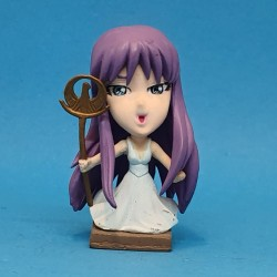Les Chevaliers du Zodiaque Mini Big Head Saori Kido Athena Figurine Chibi d'occasion