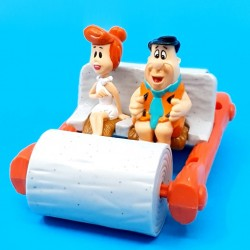 The Flinstones Fred and Wilma Flintstone with car second hand Figure