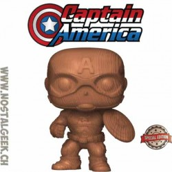 Funko Pop Marvel Captain America Wood Deco Edition Limitée