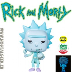 Funko Pop Rick and Morty Hologram Rick Clone (Bucket of Chicken) GITD Exclusive Vinyl Figure