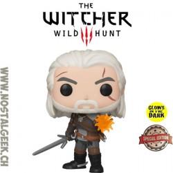 Funko Pop! Jeux Vidéo The Witcher 3: Wild Hunt Geralt (IGNI) Phosphorescent Edition Limitée