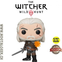 Funko Pop! Games The Witcher 3: Wild Hunt Geralt (IGNI) (Glows in the Dark) Exclusive vinyl figure