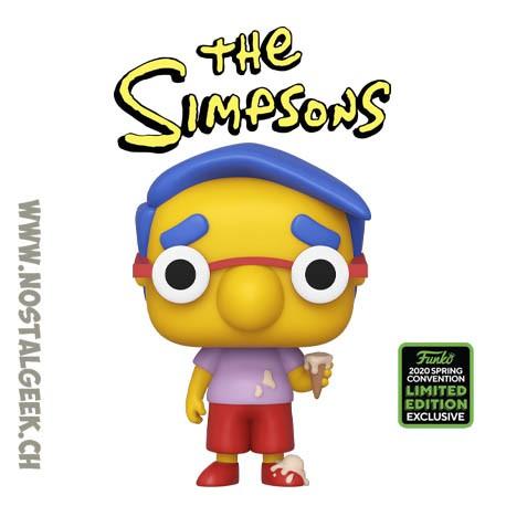 Funko Pop ECCC 2020 The Simpsons Milhouse Exclusive Vinyl Figure
