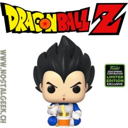 Funko Pop ECCC 2020 Dragon Ball Z Vegeta (Eating Noodles) Exclusive Vinyl Figure