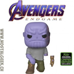 Funko Pop Marvel ECCC 2020 Avengers Endgame Thanos with magnetic hand Edition Limitée