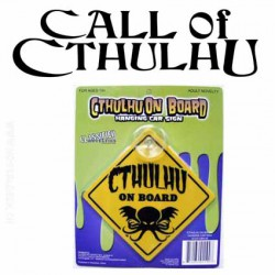 Cthulhu On Board Hanging Car Sign Horror Block Exclusive
