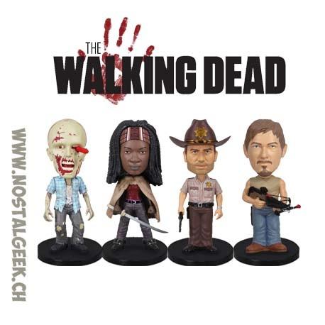Funko Mini Wacky Wobblers - Walking Dead 4-Pack Rick Grimes - Daryl Dixon - Michonne - Rv Walker Vinyl Figure