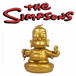 Kidrobot Homer Simpson Golden Budda Art Toy Figure Lootcrate 2015 Exclusive
