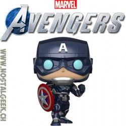 Funko Pop Games Marvel Captain america (Avengers Game) Vinyl Figure