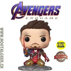Funko Pop Marvel Avengers Endgame Search the Guide Iron Man [I am Iron Man] Phosphorescent Edition Limitée
