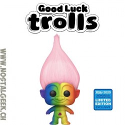 Funko Pop Wondercon 2020 Good Luck Trolls - Rainbow Troll Exclusive Vinyl Figure