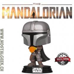 Funko Pop Star Wars The Mandalorian Flame Throwing Edition Limitée