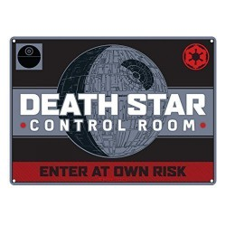 Star Wars Death Star Control room Plaque en métal 21 x 15cm Wall Art Official