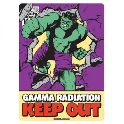 Marvel Hulk Gamma Radiation keep Out Metal Sign Plaque 21 x 15cm Wall Art Official