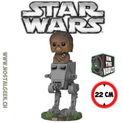Funko Pop Star Wars The last Jedi Chewbacca in AT-ST Vaulted Vinyl Figure